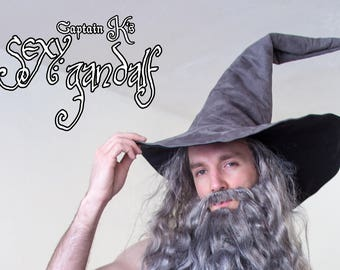 The Gray Witch or Wizard ~ Extra Large Gray Suede Witch or Wizard Hat helH4XJpIv