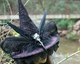 Pre Order for Purple Raven Queen Witch Hat