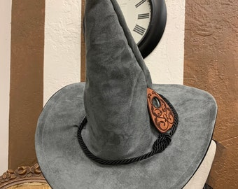 Gray Mystical Ouija Board Hat with Black Trim