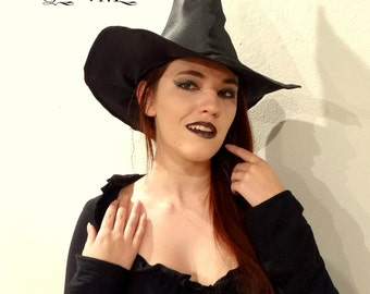 Black Satin Witch Hat-  American Horror Story Coven Inspired