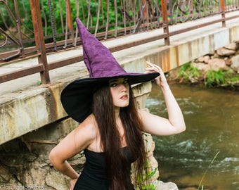 The Plum Witch or Wizard ~ Extra Large Suede Witch or Wizard Hat