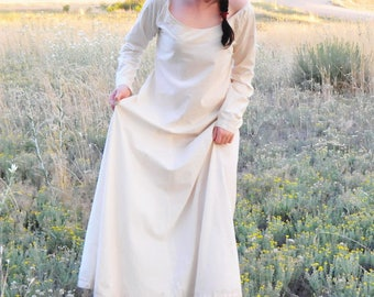 Hand-Stitched Medieval Chemise