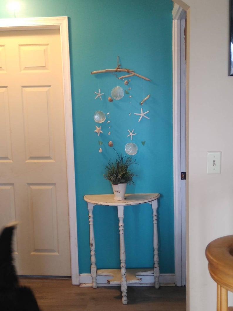 Handmade Airy Beachy Boho wall or window hanging
