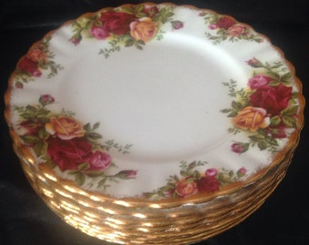 """Old Country Rose 6 1/4"""" plate"""