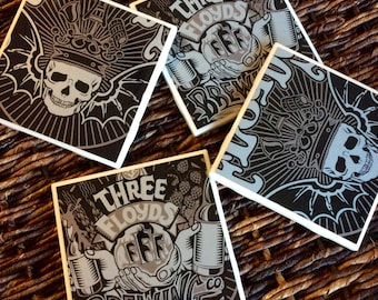Three Floyds Brewing Co. Beer Coasters