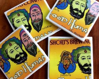 Short's Brewing Company Good Humans Beer Coasters
