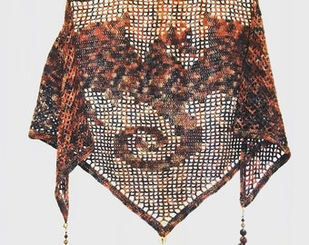 Crochet Dragon Shawl - PATTERN ONLY