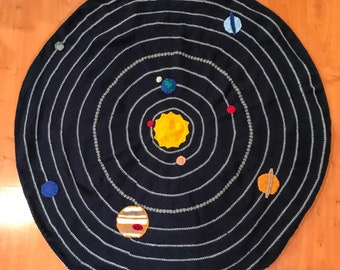 Crochet Solar System Blanket Pattern