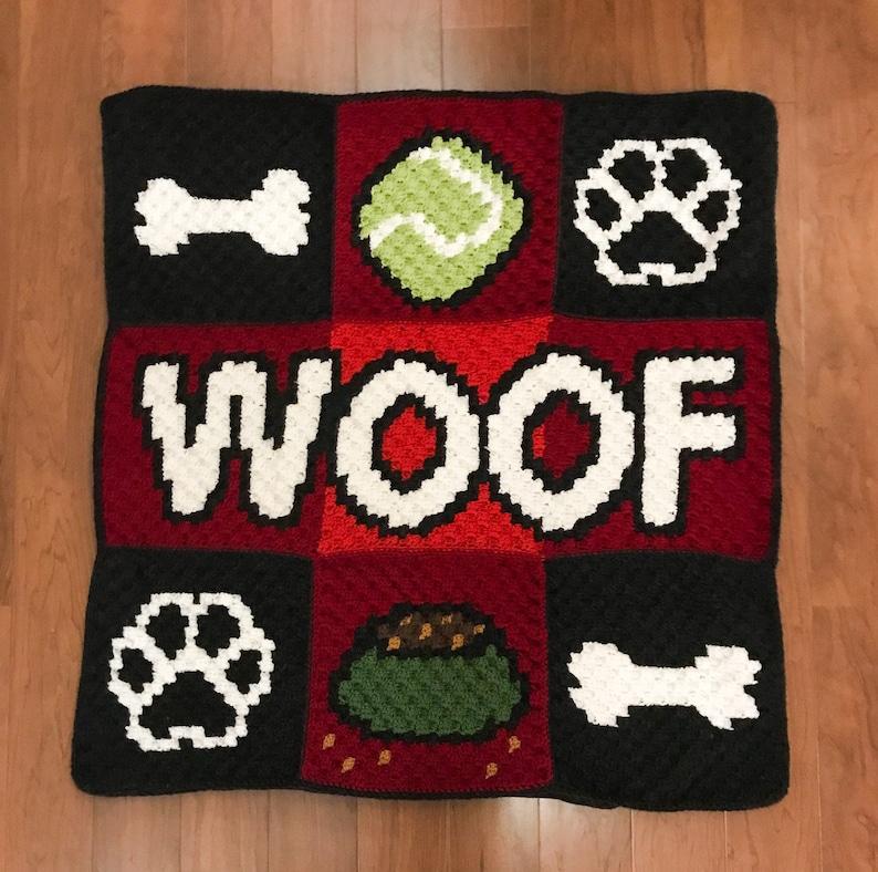 Crochet Doggo Blanket image 1