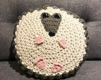 Hedgehog Pillow PDF Crochet Pattern