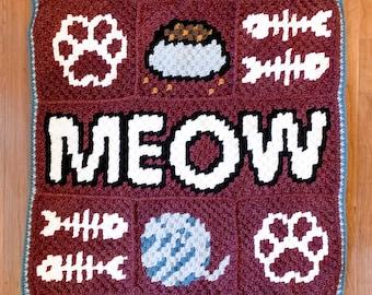 Crochet Kitty Blanket