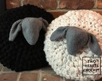 Bobble Sheep Pillow PDF Crochet Pattern