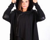 Plus Size Maxi Cardigan, Women Cardigan, Plus Size Clothing, Grunge Clothing, Plus Size Coat, Hooded Cardigan,Women Gothic Clothing,Oversize