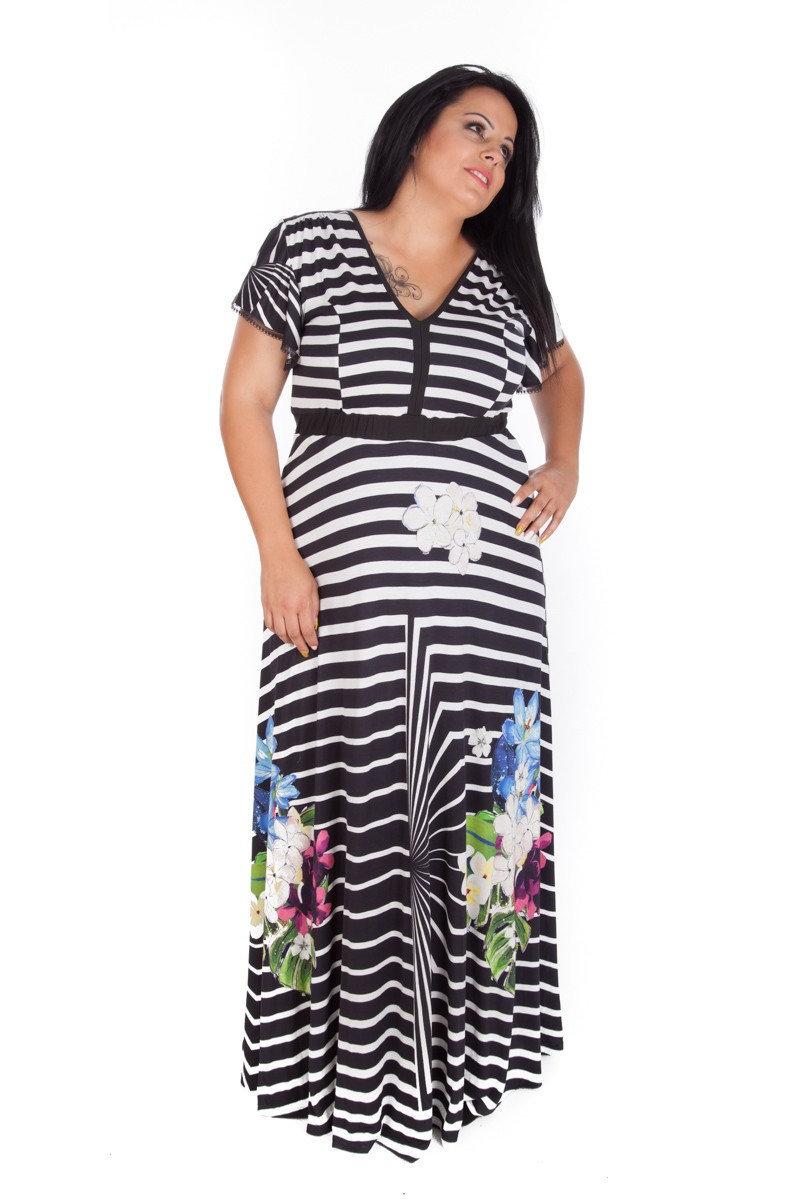 Plus Size Maxi Dress Stripe Dress Plus Size Summer Dress | Etsy