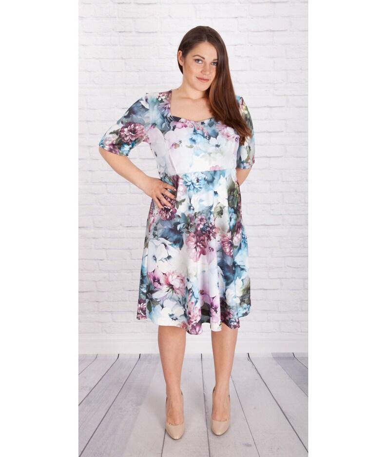 Plus Size Dress, Floral Dress, Summer Dress, Trendy Plus Size Clothing,  Floral Wedding Dress, Beach Dress, Flower Dress, Big Size Clothing
