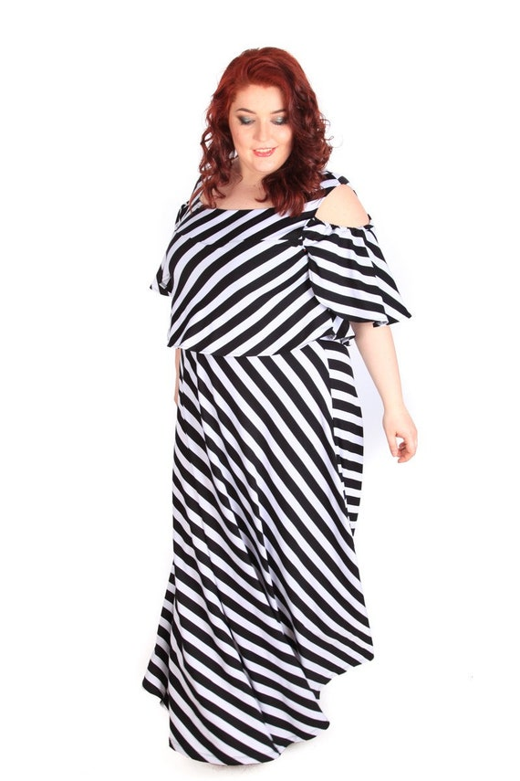 Plus Size Maxi Dress Plus Size Summer Dress Stripe Dress Etsy