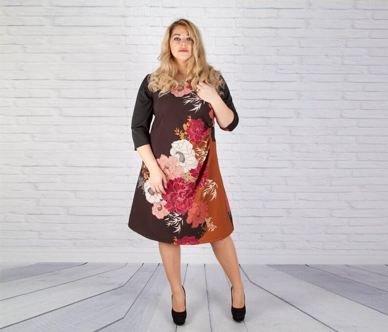 Dress For Women, Plus Size Dress, Floral Dress, A Line Dress, Midi Dress,  Plus Size Clothing, Oversize Dress, Office Dress, Short Dress