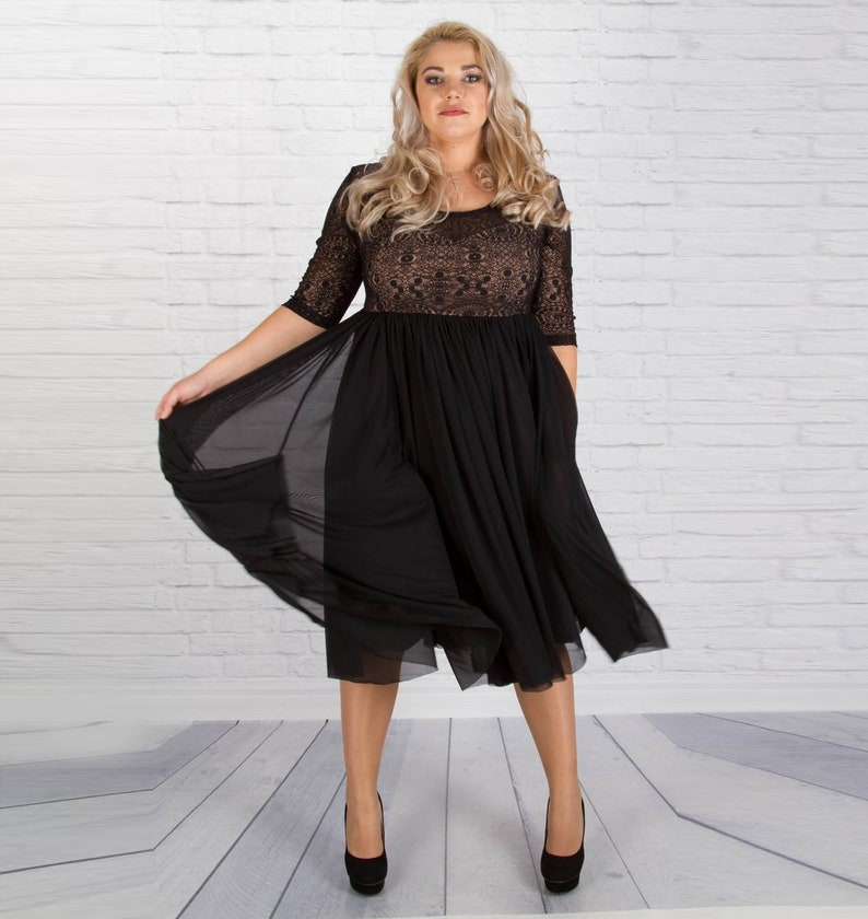 c47b7525db8a Women Dress Plus Size Dress Black Dress Alternative Wedding | Etsy