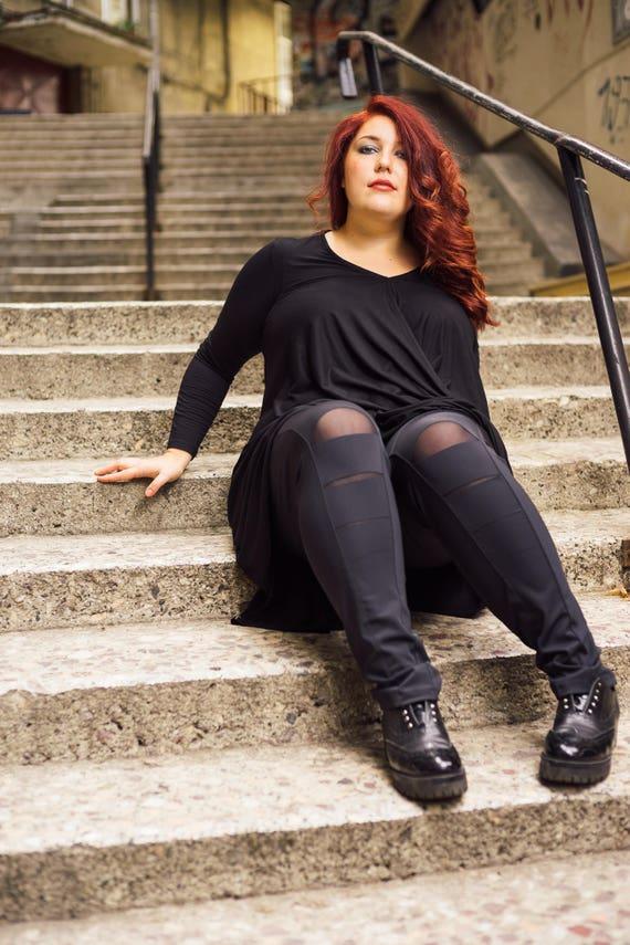 Plus Size Leggings Black Leggings Plus Size Clothing Plus Etsy