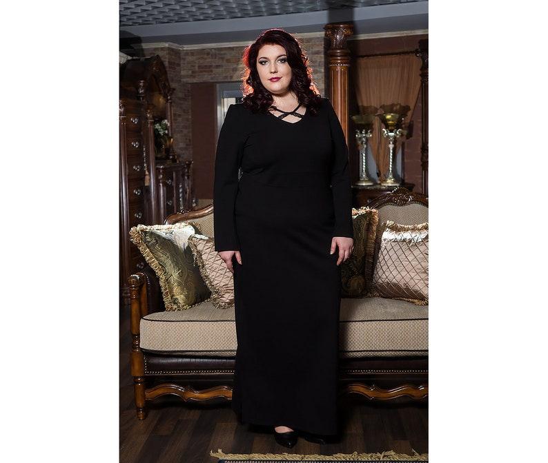 Black Maxi Dress Plus Size Maxi Dress Women Plus Size | Etsy
