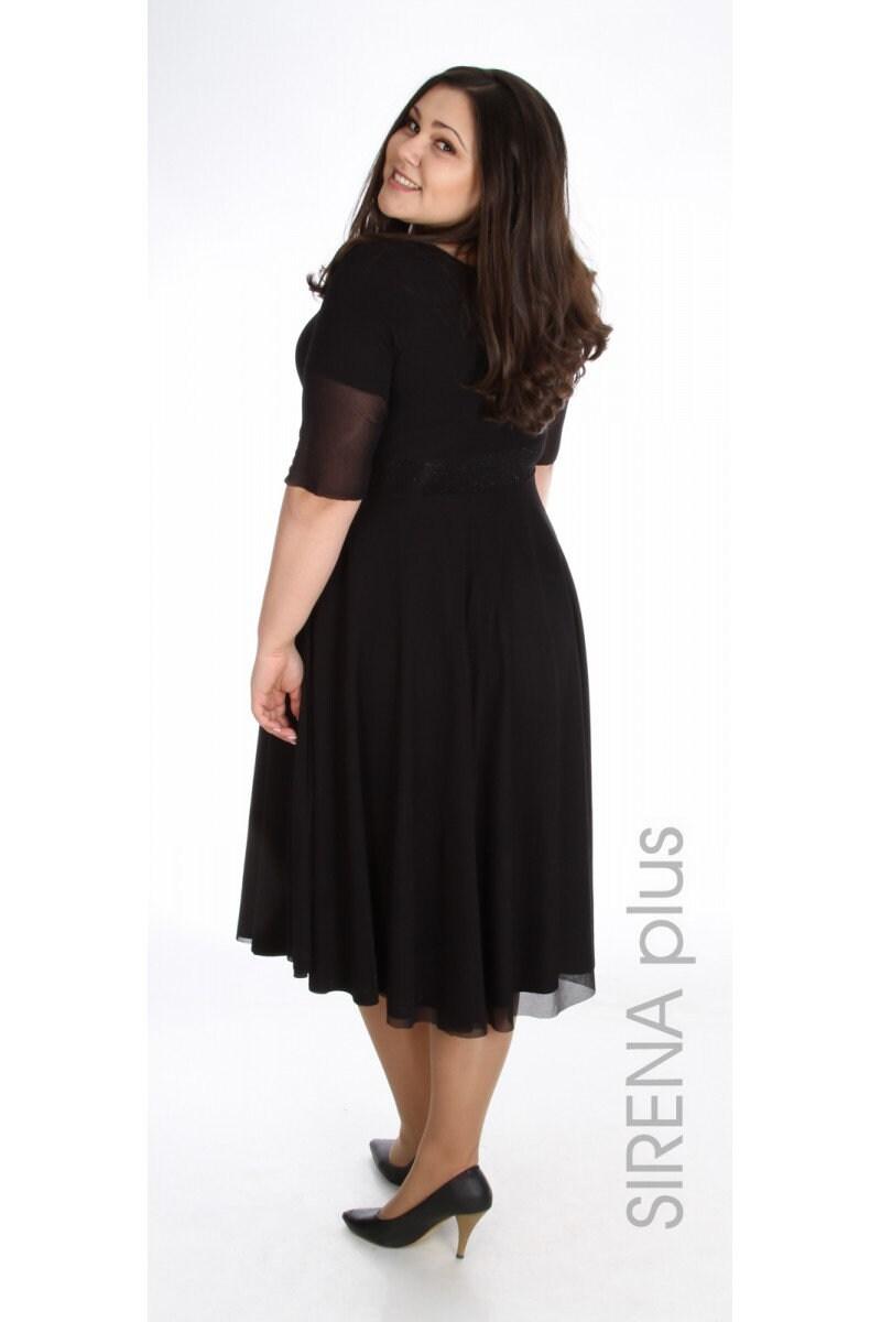 Plus Size Dress Formal Black Dress Black Oversized Dress | Etsy