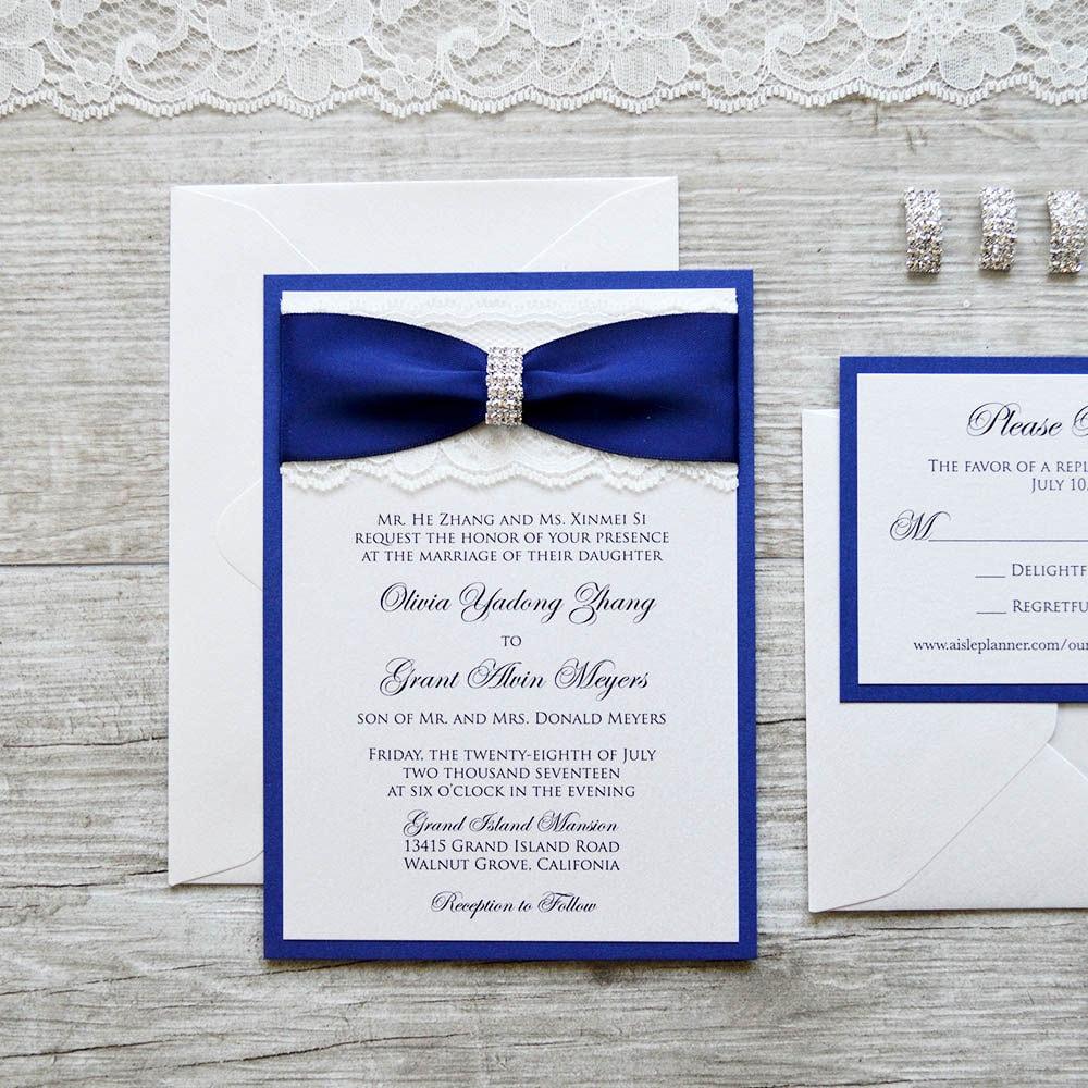 1: Elgant Ivory Silver Bling Wedding Invitations At Reisefeber.org