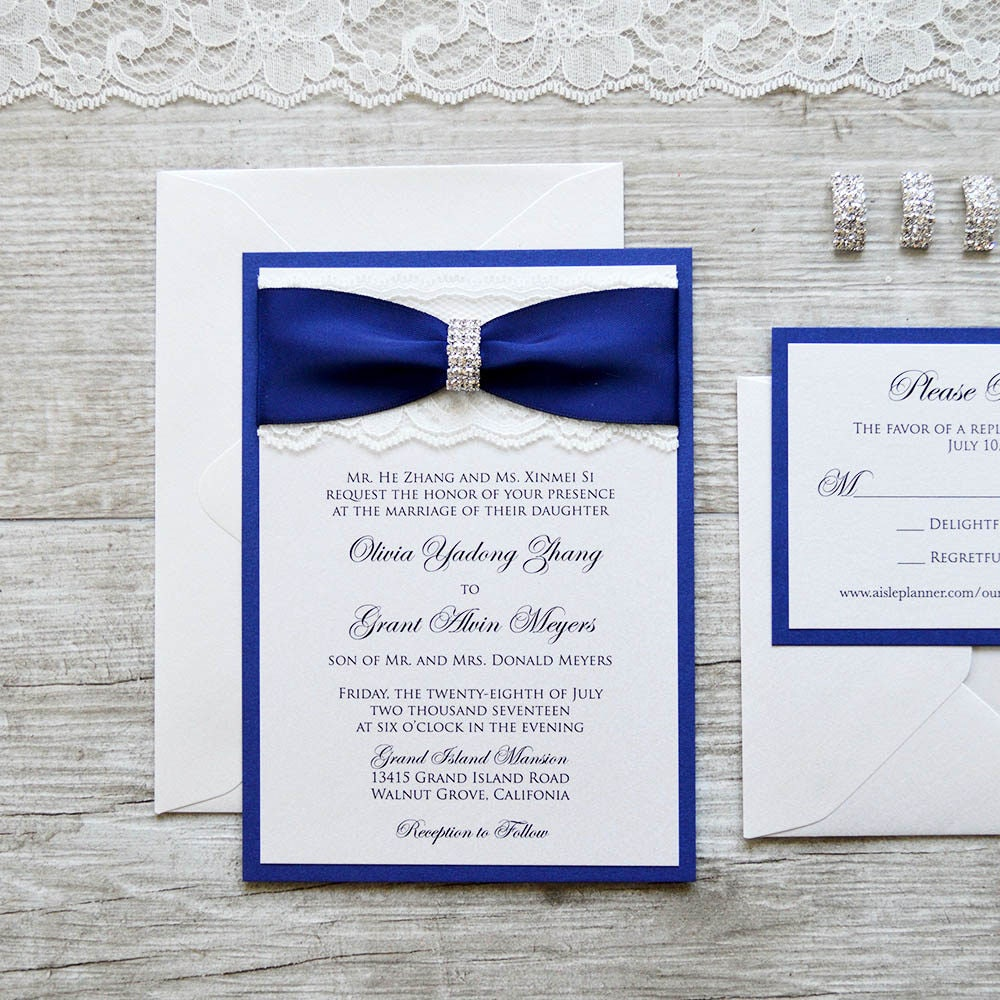 1: Blue And Silver Elegant Wedding Invitations At Websimilar.org