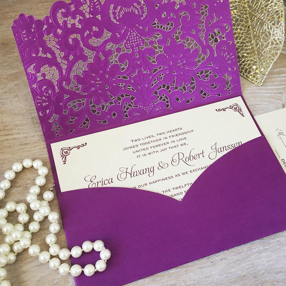 1: Plum Pocket Wedding Invitation At Websimilar.org