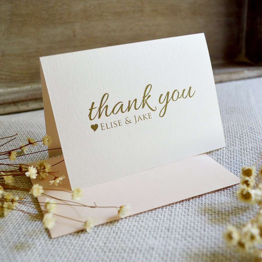 Personalized Thank You Cards Ivory Shimmer Custom Thank You