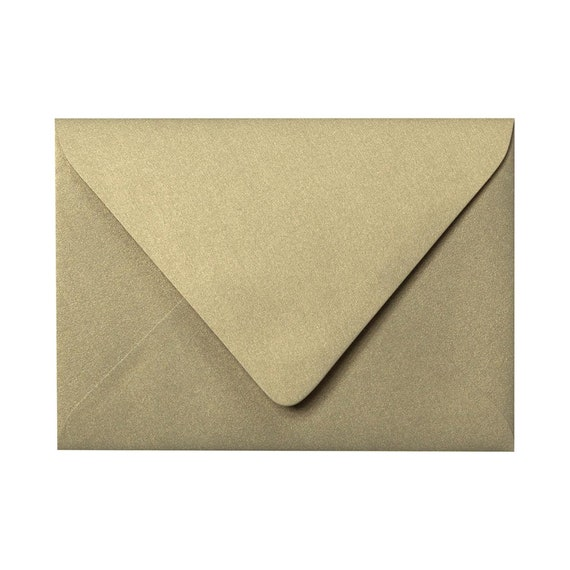 25 pack Metallic Shimmer Envelopes - Euro Flap envelopes for Wedding Invitations and Special Occasions - Invitation envelopes