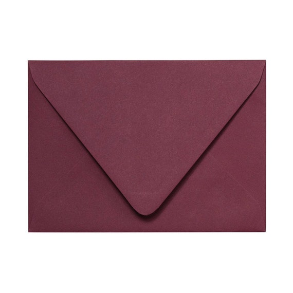 25 Pack of Matte Envelopes - Euro Flap envelopes for Wedding Invitations and Special Occasions - Pick your color and size