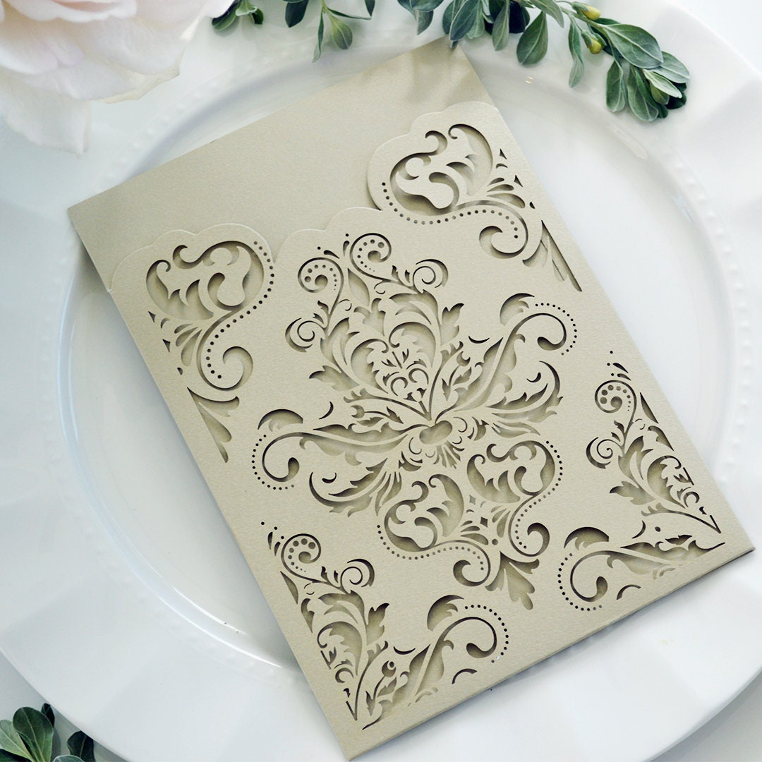 1: Diy Pocket Wedding Invitation Laser Cut At Reisefeber.org