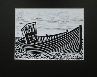 Original Limited Edition Hand Printed Lino Cut