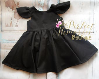 0ea33bba8a737 Little Black Dress   Girls Black Dress   Baby Black Dress   Breakfast at  Tiffany   Audrey Hepburn   Classic Black Dress  Toddler Black Dress