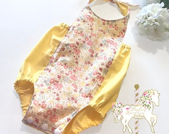 Spring Baby Romper | Baby Romper | Easter | Spring | Floral Romper | Halter Romper | Baby Girl Romper | Baby Girl Clothing | Baby Playsuit