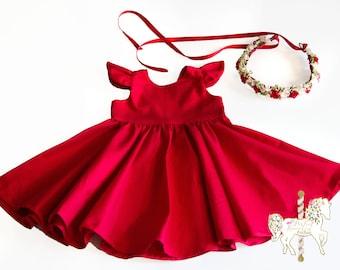 Toddler red dress | Etsy