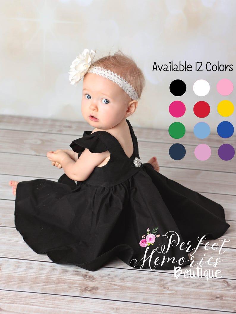 dba9270778d6 Little Black Dress Girls Black Dress Baby Black Dress | Etsy