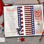 Eagle Scout Court of Honor Program Cover: Flag Law & Oath with Eagle Motif
