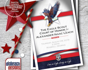 Eagle Scout Court of Honor Program Cover: Dream Collage - Digital File
