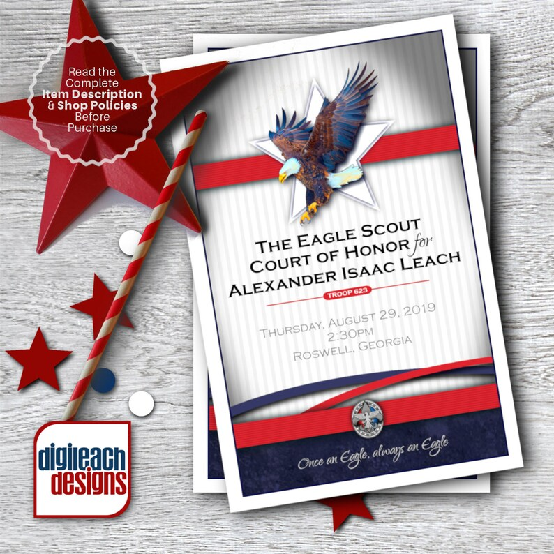Eagle Scout Court of Honor Program Cover: Dream Collage  image 0