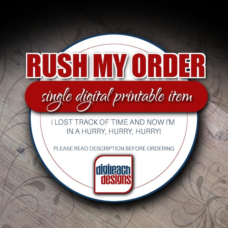 RUSH MY ORDER image 0