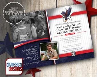 Eagle Scout Court of Honor Invitation: Dream Collage - Digital File