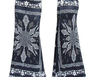 b0054a93ab9 Black Moroccan Boho Fashion Unique Sublimation Maxi Long Skirt Sizes  Small Medium Large XL 1XL 2XL 3XL