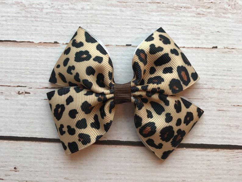 ab5065c8358 Leopard Hair Bow Cheetah Print Bow Toddler Hair Bows