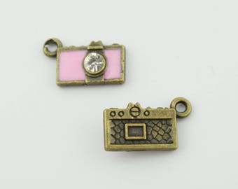 10pcs 15x9mm Camera Charms Jewelry Pendants Findings LJ