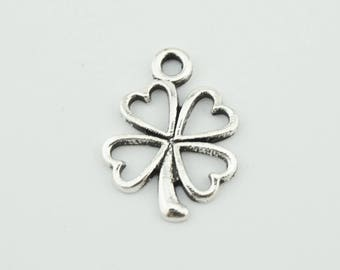 20pcs 16x12mm Lucky Clover Charms Jewelry Pendant Accessories YY