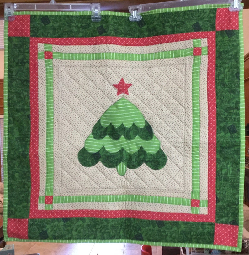 Christmas Tree Quilted Wall Hanging Decoration Etsy