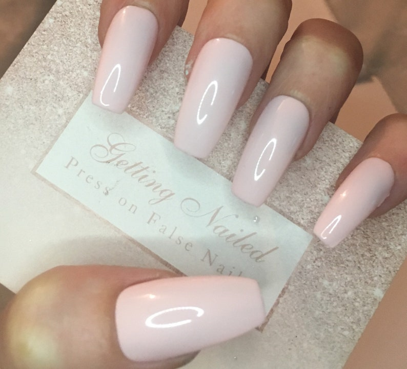 Health & Beauty Pop Pink False Nail Clients First