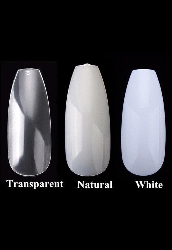 600pc nails long coffin nails long ballerina nails Clear | Etsy