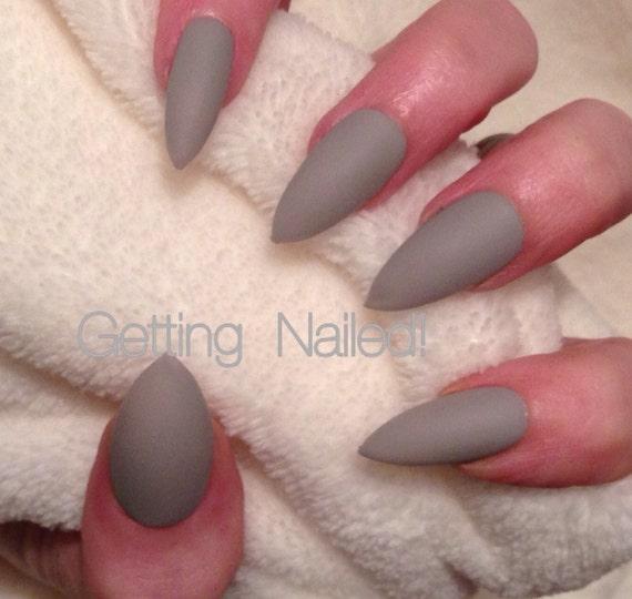 Simple nails elegant nails classy nails matte nails light | Etsy